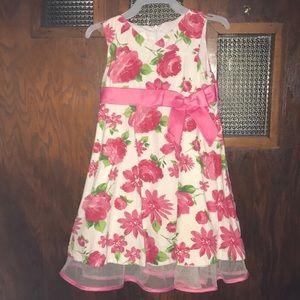 Bonnie Jean toddler girls floral dress, size 3t